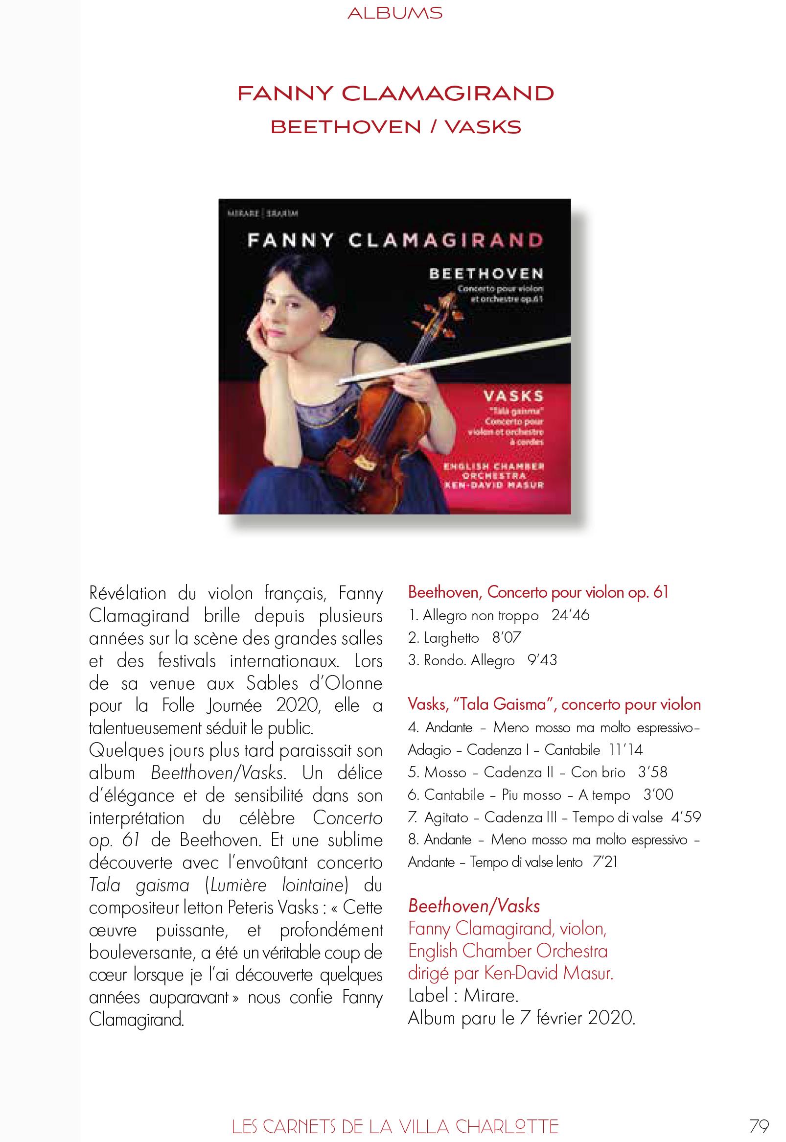 Nouvel album Fanny Clamagirand